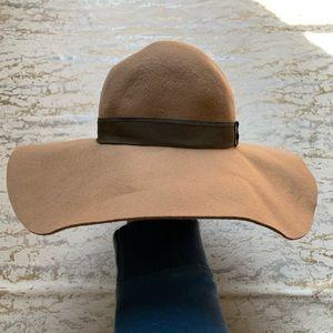 BCBG Neutral Color Wool Floppy Hat